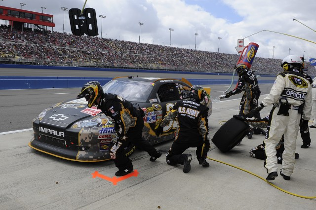 Army Chevy Pit Stop