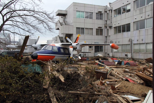 Soldiers and Marines are teaming up to help clear the runway and areas surrounding Sendai International Airport as part of Operation Tomodachi - the U.S. Armed Forces joint operation supporting Japan following the March 11, 2011, earthquake and tsunami there.