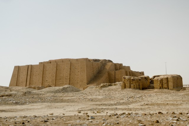 CONTINGENCY OPERATING BASE ADDER, Iraq - In the distance, the Ziggurat of Ur. the remains of the home of Abraham, of the Old Testament.