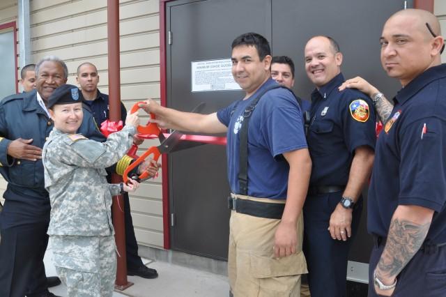 Ribbon Cutting at fire training facility
