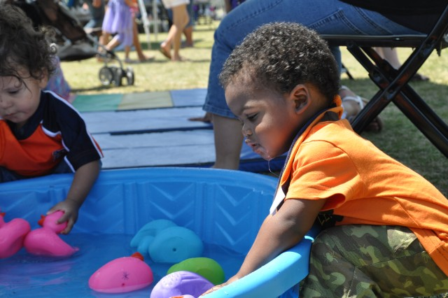 The Month of the Military Child Family Fun Fair, scheduled for April 30, offers games for children, toddlers through teens.