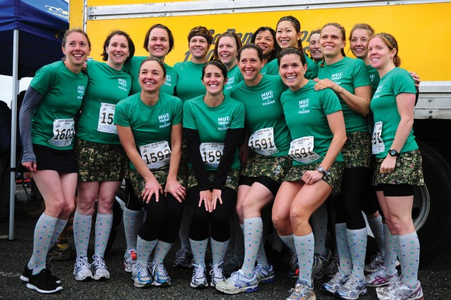 SEASIDE, Calif. - The 15 NPS military spouses from Mud, Sweat and Tears gather for a group photo before the team-event portion of the race.
