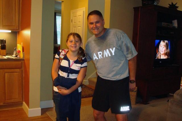 Lt. Col. Randy Wheeler and daughter, Katie.