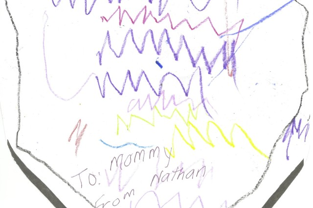 The Shield of Faith to mommy from Nathan, age 3.