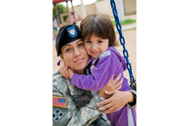 Spc. Ellane Marquez and daughter