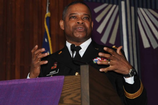 Maj. Gen. Reuben D. Jones, commanding general of Family and Morale, Welfare and Recreation Command, talks about Family as the ArmyAca,!a,,cs most valuable asset.
