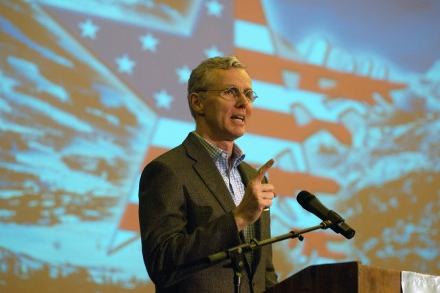 W. Scott Gould speaks at opening ceremonies