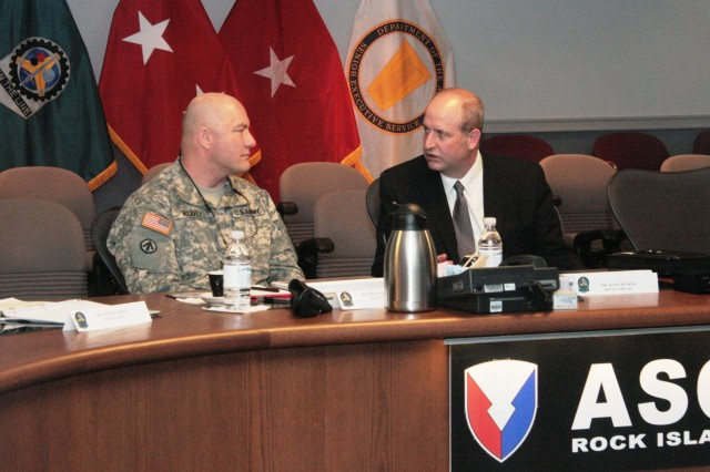 Brig. Gen. Harvey visits ASC
