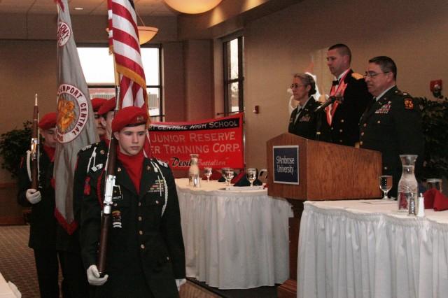 ASC officer speaks to members of JROTC