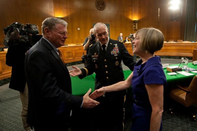 Gen. Martin Dempsey and Sen. James Inhofe