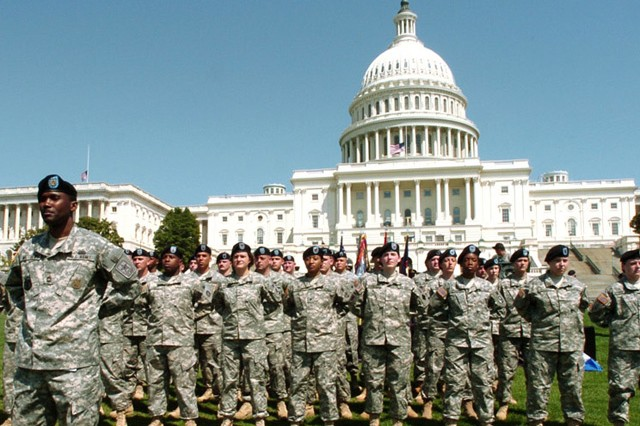 Soldiers on Capitol Hill