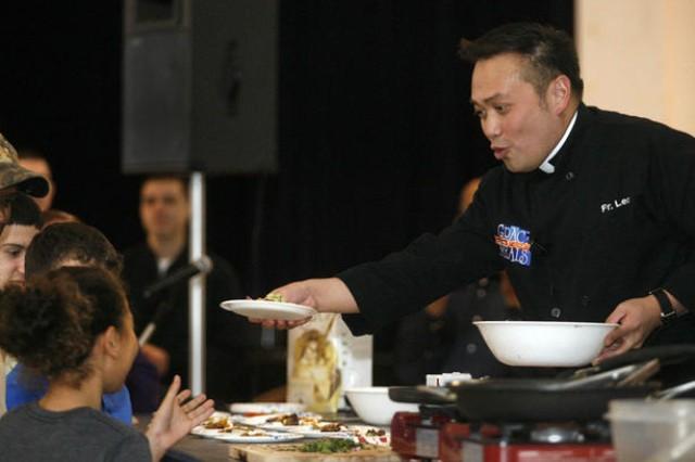 'Father Leo' cooks up faith, food, fun in family program