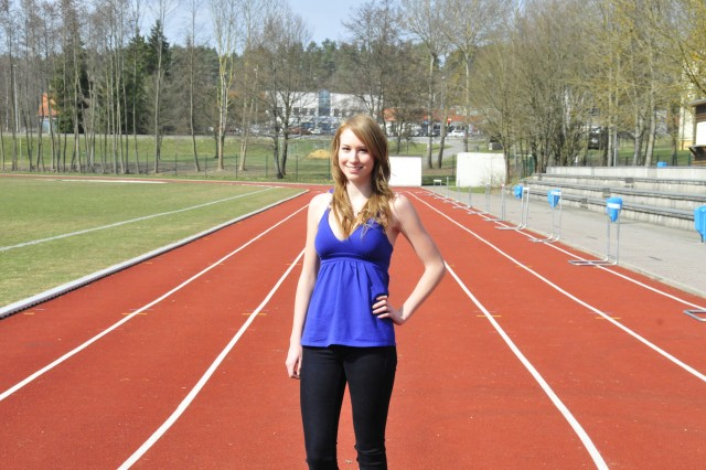 Track star, and Vilseck High School senior, Payton Bodecker has her sights set on the finish line and the future.