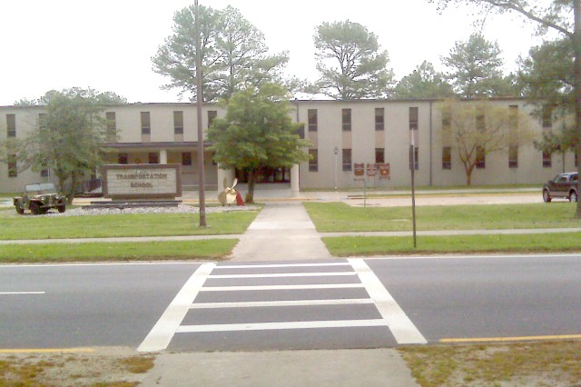 IMCOM-SE's new headquarters will be in Bldg. 705 on Fort Eustis, Va. A former transportation school (shown at left before renovations began), the building is being reconfigured to hold the Atlantic Region. The building is still being worked on (right), but is expected to be completed in time for the arrival of personnel July 18.