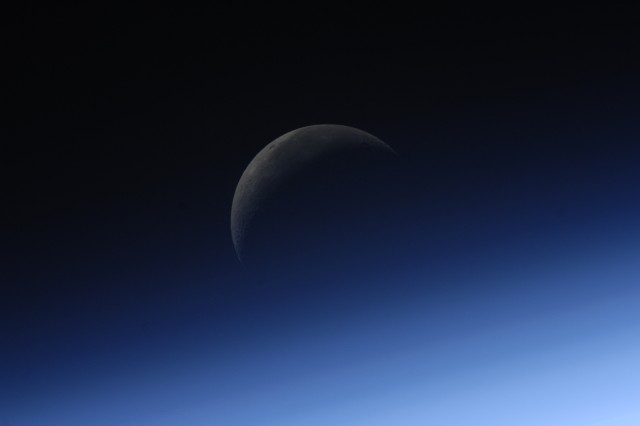 Moon from space station