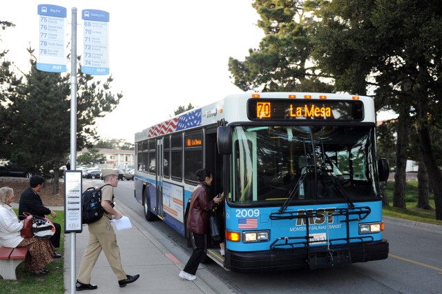 PRESIDIO OF MONTEREY, Calif. - U.S. Army Garrison Presidio of Monterey earned the Superior Quality of Life Award for a small unit or installation for successfully teaming with a local mass transportation company, Monterey Salinas Transit, under the Mass Transportation Benefit Program and the Transportation Incentive Program.