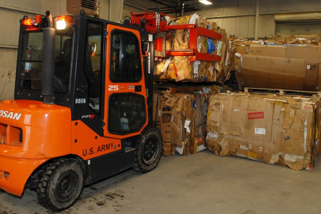 All material recycled at Tobyhanna Army Depot in fiscal year 2010 saved 72,573 cubic yards of landfill space.