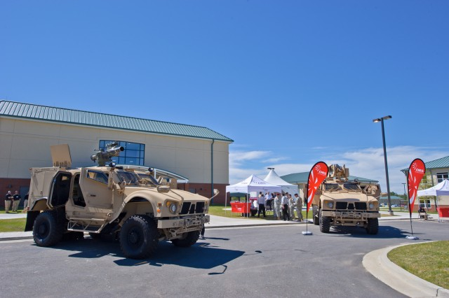 Static exhibits and vendor displays of the latest reconnaissance and surveillance technologies were part of the three-day conference at Harmony Church.