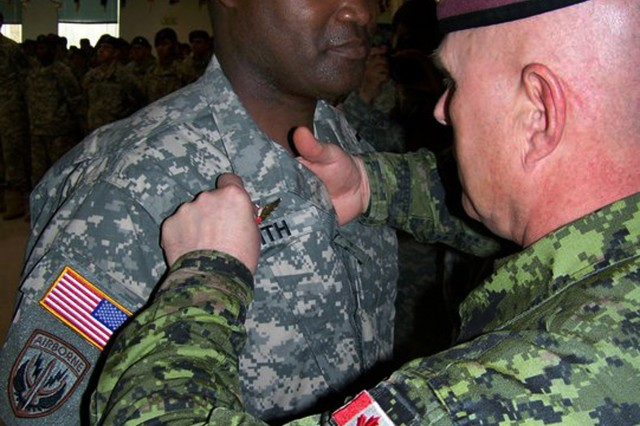 Canadian, U.S. paratroopers trade wings