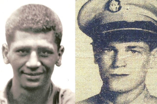 Pfc. Anthony T. Kaho'ohanohano and Pfc. Henry Svehla