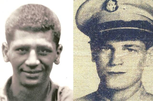 Pfc. Anthony T. Kaho'ohanohano and Pfc. Henry Svehla