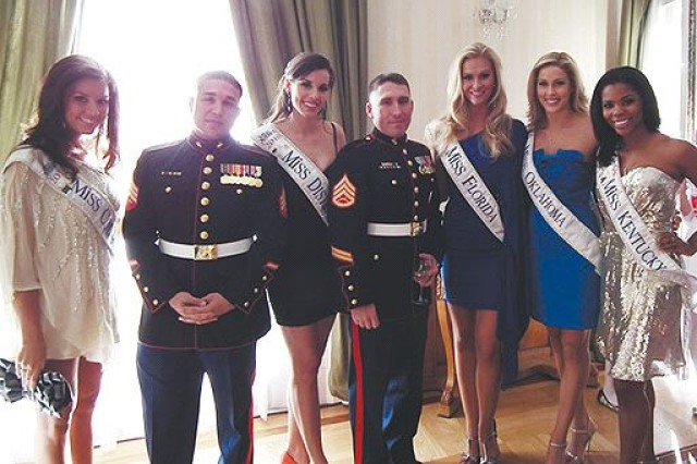 Marines assist Miss America reception