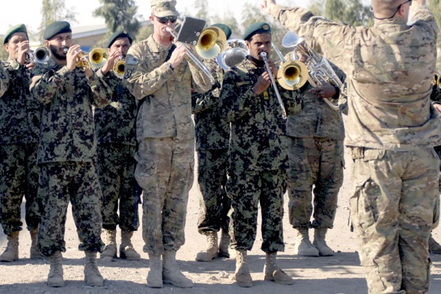 Afghan army, 10th Mountain Division make sweet music together