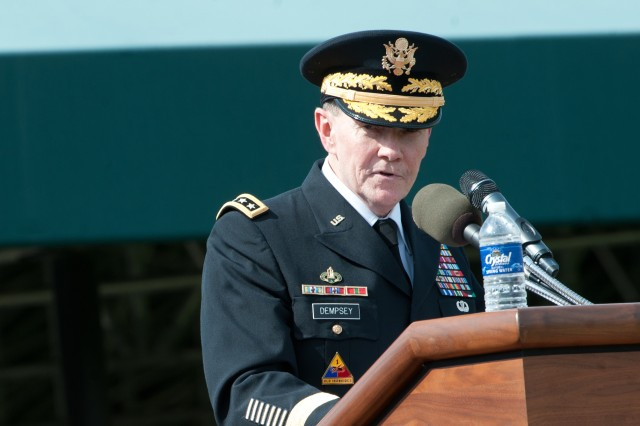 Dempsey speaks at swearing-in ceremony