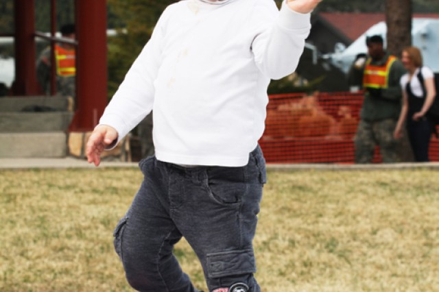 CAMP RED CLOUD, South Korea - Sam Atwater, son of Doug and Soojin Atwater, U.S. Army Garrison Red