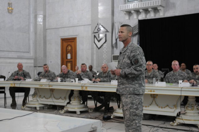 Sergeants major gather for senior enlisted conference
