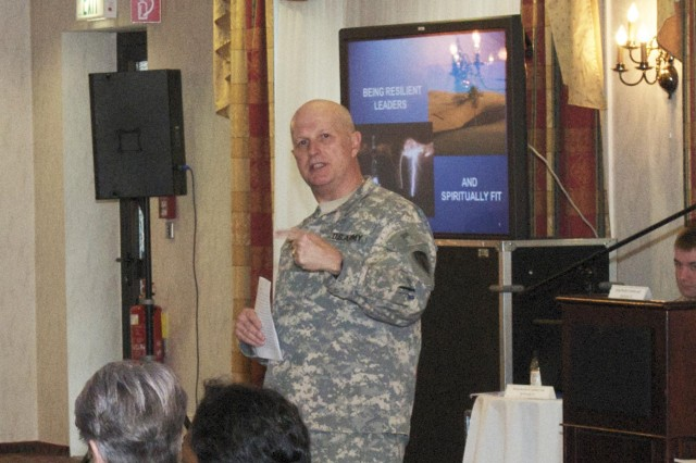 Grafenwoehr Senior Leaders Breakfast highlights Resiliency/Soldier 360A,Ao program in Europe