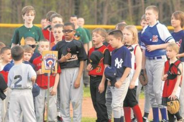 Little League opening ceremonies were held Monday evening at the 21st Street baseball complex.