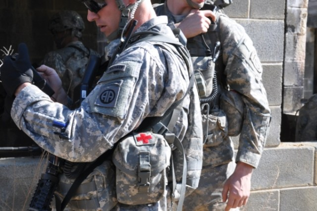 Paratroopers from the 3rd Brigade Combat Team of the 82nd Airborne Division use radios and smartphones to communicate during a recent field exercise at Fort Bragg, N.C.