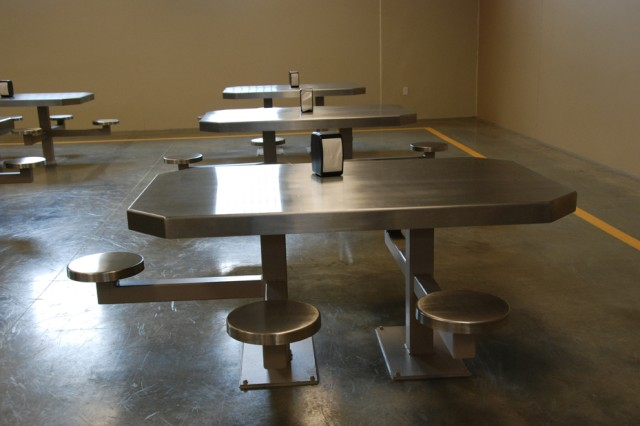 This is the seating area of the dining facility at the Joint Regional Correctional Facility at Fort Leavenworth, Kan.