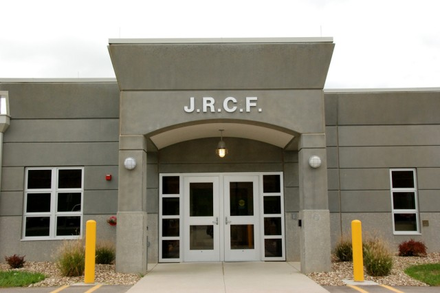 This is the front entrance of the Joint Regional Correctional Facility at Fort Leavenworth, Kan.