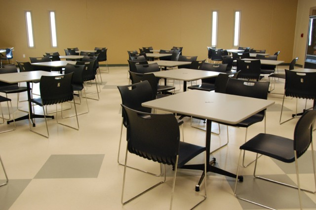 This is the open visitor area of the Joint Regional Correctional Facility at Fort Leavenworth, Kan.