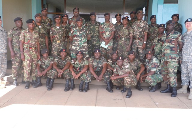 USARAF Chaplains discuss behavioral health with Malian Defense Force peers