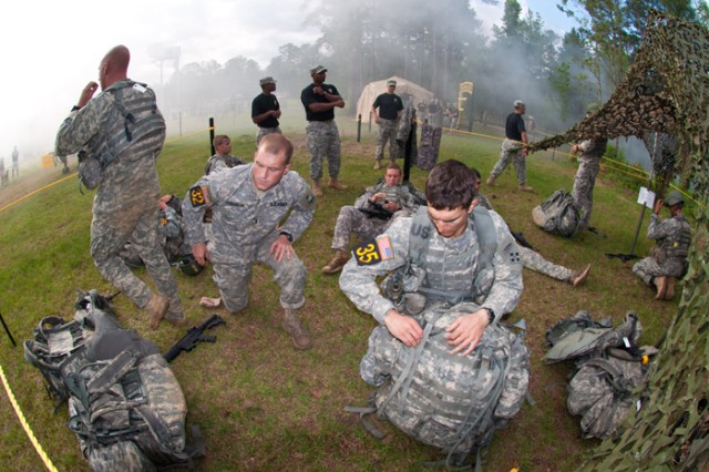 Teams prep their gear Saturday during Ranger Day Stakes at Todd Field at Fort Benning, Ga.