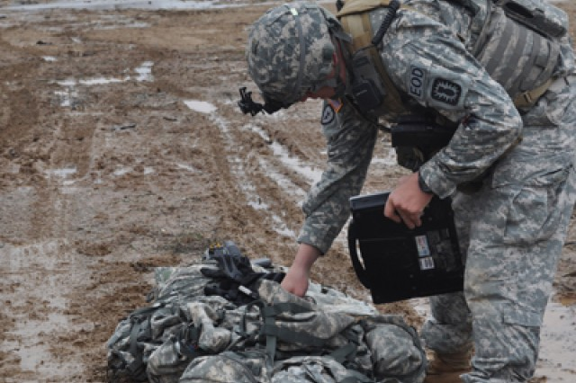 """A 789th Ordnance Company, 184th Ordnance Battalion, Soldier works to help identify the simulated ordnances the team is working with as a part of the 52nd Ordnance Group's TOY competition at Fort Campbell."""""""