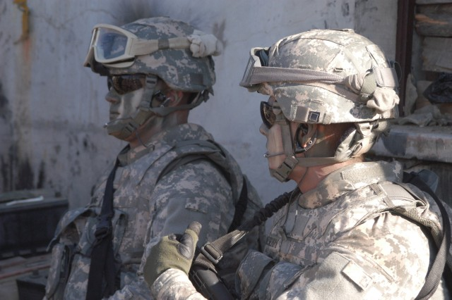 The Advanced Combat Helmet is one of many pieces of protective gear fielded to Soldiers by Program Executive Office Soldier.