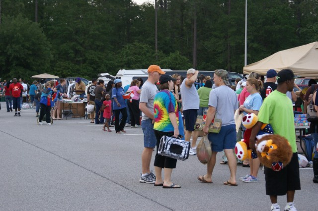 Fort Stewart residents and civilians attend the Great MWR Yardsale at Fort Stewart, April 16. Some found great bargains while others enjoyed a leisure stroll.