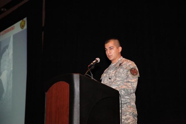 IMCOM Soldier of the Year recognized at IMCOM Symposium