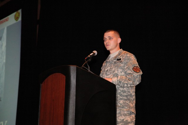 NCO of the Year presented award at IMCOM Symposium