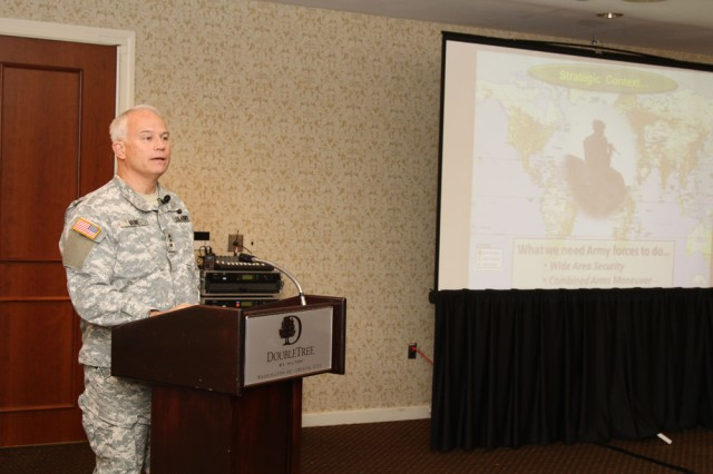 Lt. Gen. Michael Vane Addresses Industry at Carbine Competition Pre-solicitation Conference