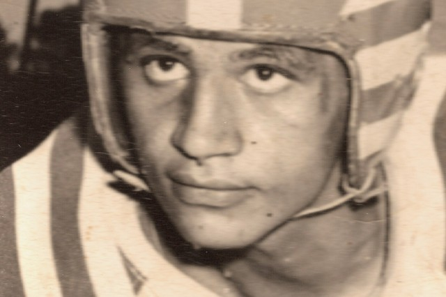 Anthony Kaho'ohanohano's high school football photo.