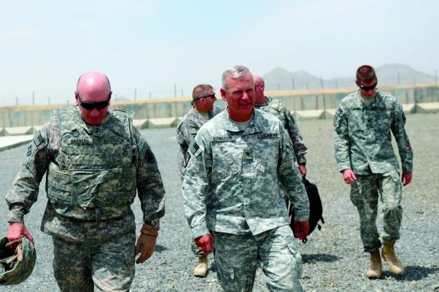 LT. Gen. Michael Barbero visit Spin Boldak, Afghanistan