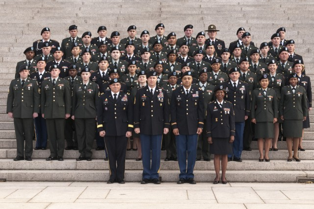 U.S. Army Reserve Soldiers at the National Archives in Washington for the 6th Annual National Capital Reenlistment Ceremony.  The ceremony marks the Army Reserve's 103rd birthday and provides an opportunity to recognize the 57 hand-selected Soldiers and their families for their accomplishments and dedication to the Army Reserve.