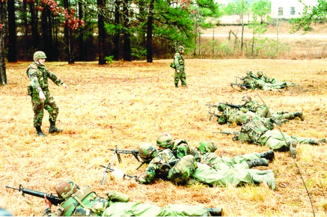 Soldiers of the Louisiana National Guard, 527th Engineer Battalion, conduct weapons training at Fort Polk in 1991. The National Guard Unit was deployed to aid in Desert Storm through operations in Kuwait by keeping the supply routes open into Kuwait and Iraq. The Soldiers returned to Fort Polk on May 11, 1991.
