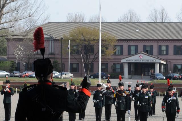 British Army band performs on Yongsan Garrison