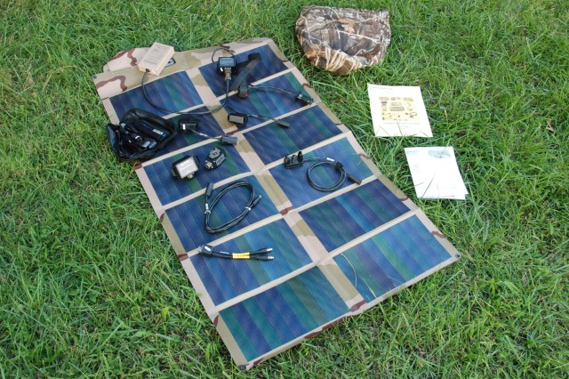 Light, portable solar panels are just one of the technologies the Army is developing to reduce the Army's demands for electric power, fuel and water. Soldiers must carry over five pounds of batteries for each day of mission. The associated weight and transportation requirements for operational energy significantly reduce Soldier and unit mobility and endurance.
